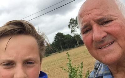 Auf dem Jakobsweg mit Enkel Luis Jr.